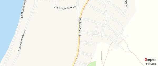 Улица Крупской на карте Усть-Катава с номерами домов