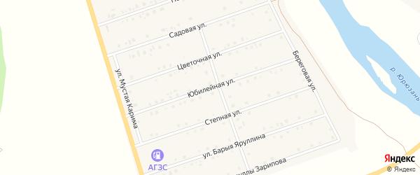 Юбилейная улица на карте села Малояза с номерами домов