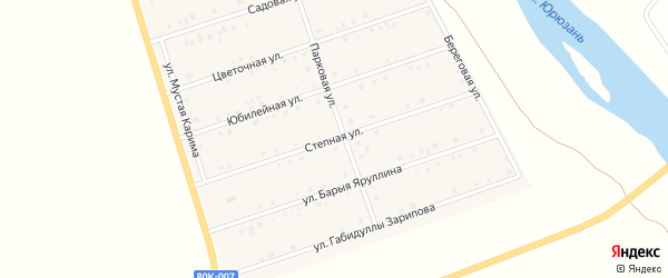 Степная улица на карте села Малояза с номерами домов