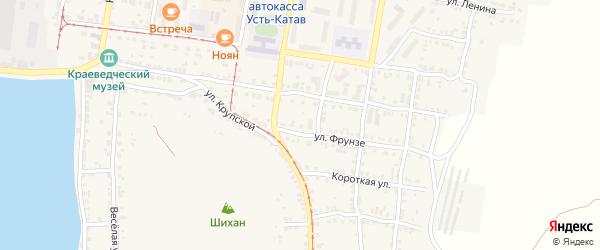 Улица ПК Автолюбитель-10 Фрунзе 7 на карте Усть-Катава с номерами домов
