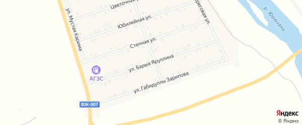 Улица Барыя Яруллина на карте села Малояза с номерами домов