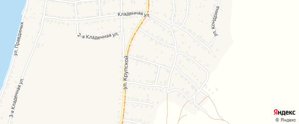 Катавский 3-й переулок на карте Усть-Катава с номерами домов