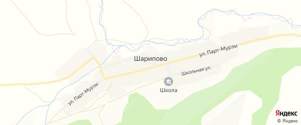 Карта села Шарипово в Башкортостане с улицами и номерами домов