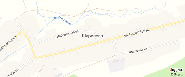 Улица Парт-Мурзы на карте села Шарипово с номерами домов