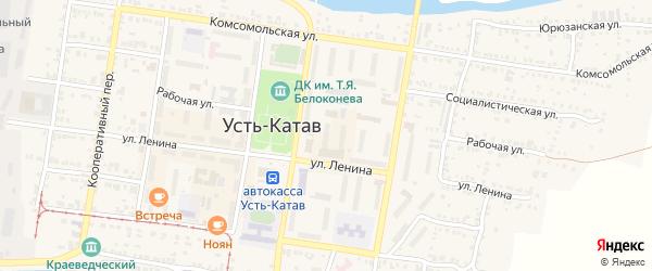 Улица ПК Автолюбитель-1 Ленина 47а на карте Усть-Катава с номерами домов