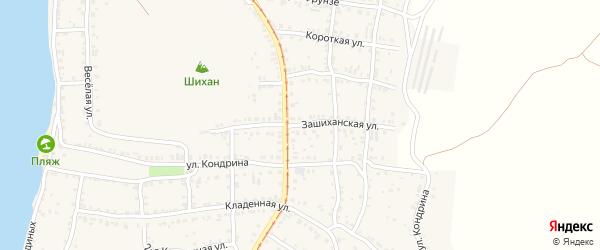 Зашиханская улица на карте Усть-Катава с номерами домов