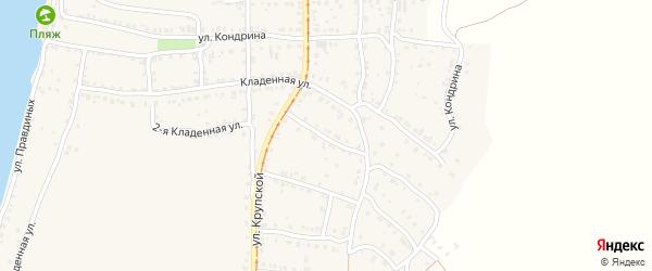 Катавский 2-й переулок на карте Усть-Катава с номерами домов