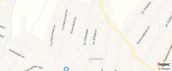 Улица 9 Января на карте Усть-Катава с номерами домов