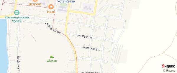 Улица Фрунзе на карте Усть-Катава с номерами домов