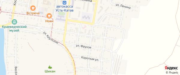 Улица ПК Автолюбитель-56 Братьев Мохначевых 56 на карте Усть-Катава с номерами домов