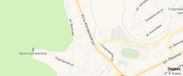 Усть-Катавская улица на карте Катава-Ивановска с номерами домов