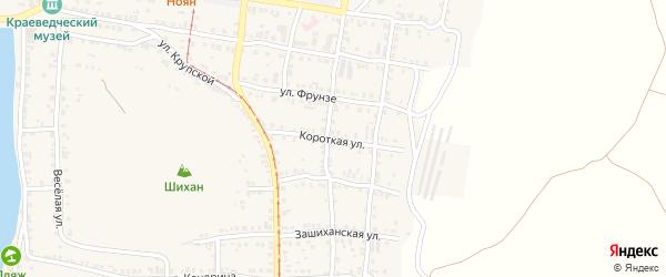 Короткая улица на карте Усть-Катава с номерами домов