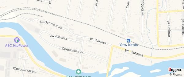 Улица ПК Автолюбитель-24 Чапаева на карте Усть-Катава с номерами домов