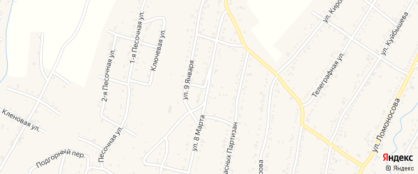 Территория ПКС Вагоностроитель-3 Улица 8 на карте Усть-Катава с номерами домов