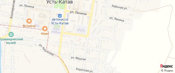 Улица 40 лет Октября на карте Усть-Катава с номерами домов