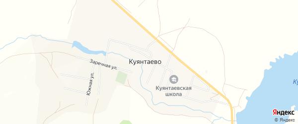 Карта села Куянтаево в Башкортостане с улицами и номерами домов