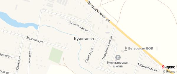 Юбилейная улица на карте села Куянтаево с номерами домов