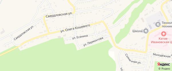 Улица Есенина на карте Катава-Ивановска с номерами домов