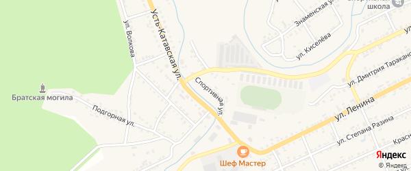 Спортивная улица на карте Катава-Ивановска с номерами домов