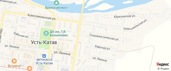 Улица ПК Автолюбитель-16 Социалистическая 37 на карте Усть-Катава с номерами домов