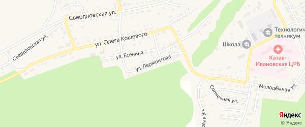Улица Лермонтова на карте Катава-Ивановска с номерами домов