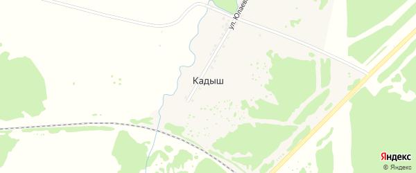 Горная улица на карте деревни Кадыша с номерами домов