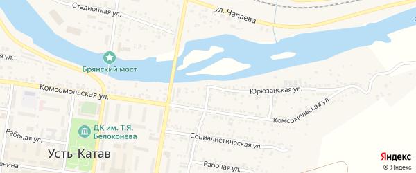 ПК Автолюбитель-7 Юрюзанская улица на карте Усть-Катава с номерами домов