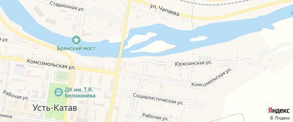 Улица ПК Автолюбитель-25 Юрюзанская 25 на карте Усть-Катава с номерами домов