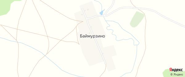 Улица Сакмар на карте деревни Баймурзино с номерами домов