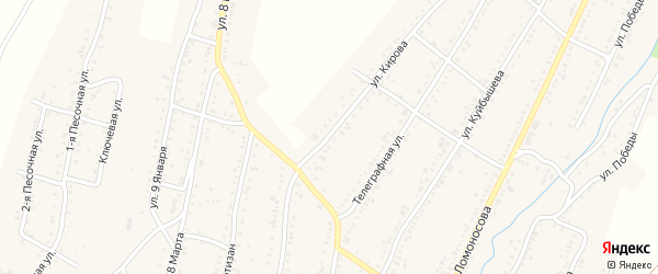 Улица Кирова на карте Усть-Катава с номерами домов