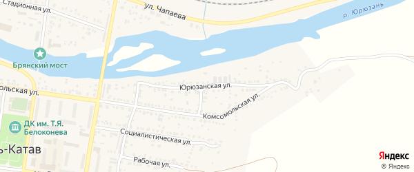Юрюзанская улица на карте Усть-Катава с номерами домов
