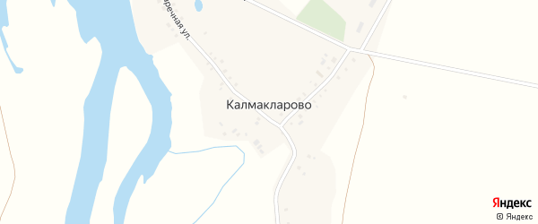 Заречная улица на карте деревни Калмакларово с номерами домов