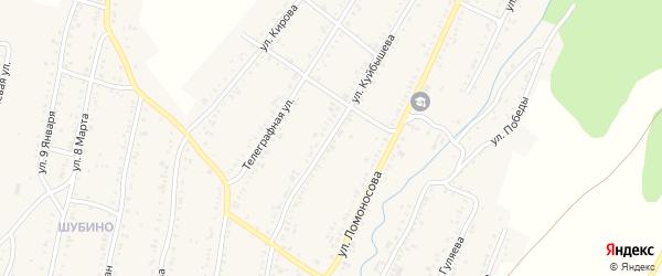 Улица Куйбышева на карте Усть-Катава с номерами домов