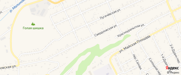 Свердловская улица на карте Катава-Ивановска с номерами домов