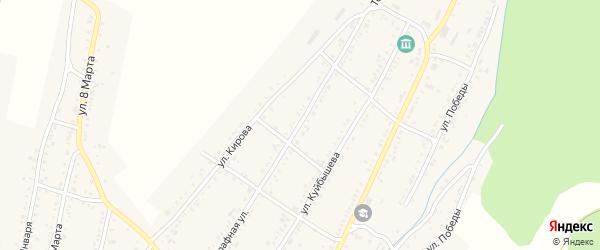 Телеграфная улица на карте Усть-Катава с номерами домов