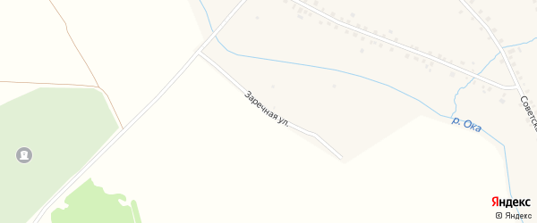 Заречная улица на карте села Большей Оки с номерами домов
