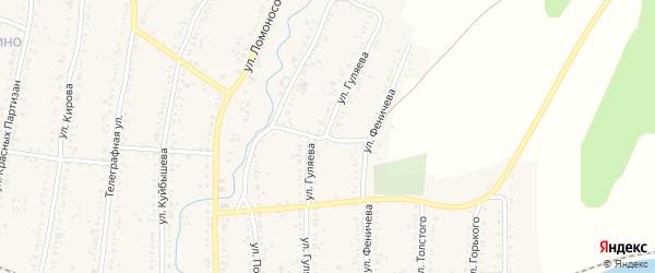 Улица Гуляева на карте Усть-Катава с номерами домов