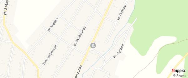 Улица Ломоносова на карте Усть-Катава с номерами домов