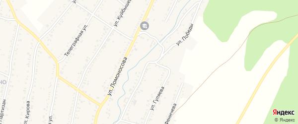 Улица Победы на карте Усть-Катава с номерами домов
