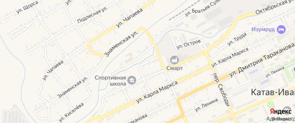 Улица Тропынина на карте Катава-Ивановска с номерами домов