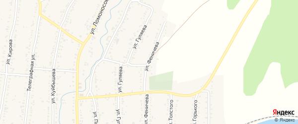 Улица Феничева на карте Усть-Катава с номерами домов