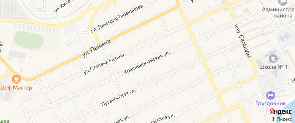 Красноармейская улица на карте Катава-Ивановска с номерами домов