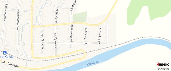 Улица Толстого на карте Усть-Катава с номерами домов
