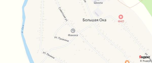 Советская улица на карте села Большей Оки с номерами домов