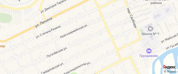 Пугачевская улица на карте Катава-Ивановска с номерами домов
