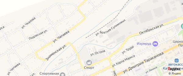 Улица Братьев Сулимовых на карте Катава-Ивановска с номерами домов