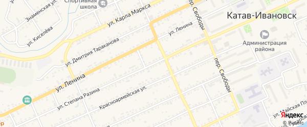 Улица Степана Разина на карте Катава-Ивановска с номерами домов