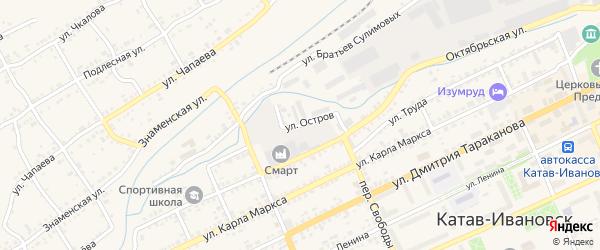 Улица Остров на карте Катава-Ивановска с номерами домов