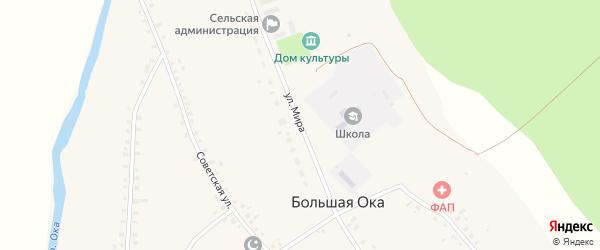 Улица Мира на карте села Большей Оки с номерами домов