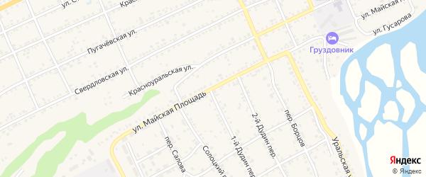 Улица Майская площадь на карте Катава-Ивановска с номерами домов